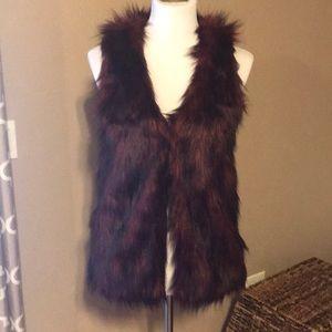 Material Girl faux fur vest